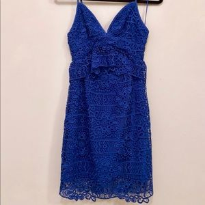 Lace Guess Cocktail Dress with Cutout